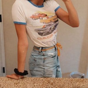 Tight fitting Urban Outfitters racing tee